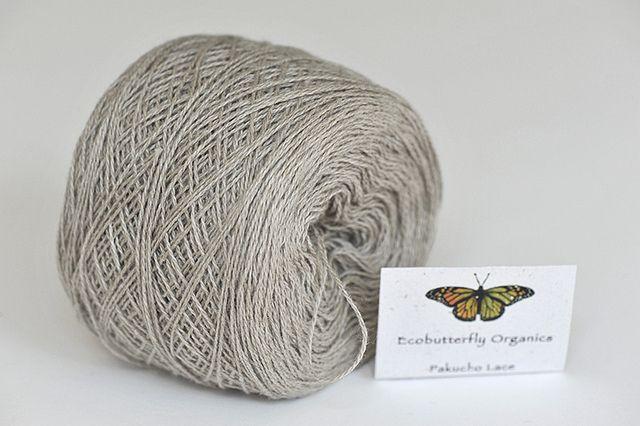 ecobutterfly organics - pakucho lace:  100% colour-grown organic cotton / rustic avocado