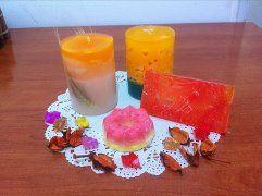 Натуральные мыла и декоративные свечи ручной работы