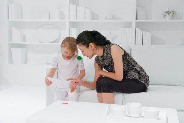 Explicando el proyecto a los niños