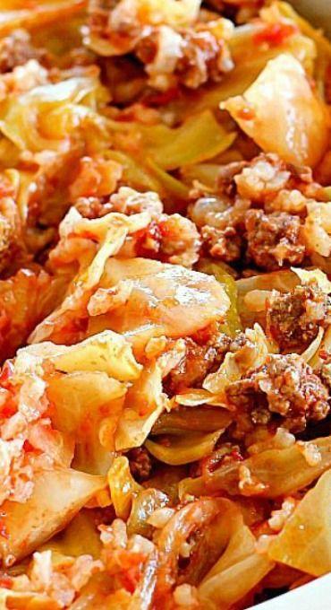 Beef Cabbage Roll Casserole