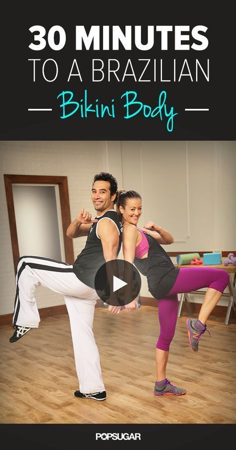 This 30-minute full-body workout video is so fun. You won't realize how hard you're working until the next day when you are sore all over. Thanks Brett Hoebel. And thank you capoeira.