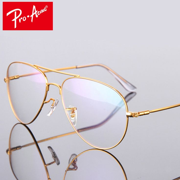 Pro Acme Fashion Titanium Aviation Gold Clear Lens Glasses Frame Women Retro Eye glasses Frames for Men Eyeglasses CC0838 #Affiliate