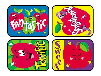 TREND 100 Large Awesome Apples Applause reward stickers - Sticker Stocker