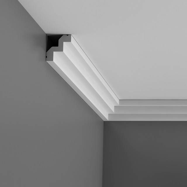 Art deco molding crown flex crown molding minimum radius for Art deco baseboard molding