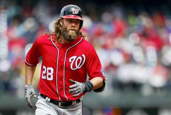 Washington Nationals' Jayson Werth (28) runs the bases after hitting a home run off Philadelphia Phillies starting pitcher Jeremy Hellickson in the first inning of a baseball game, Sunday.