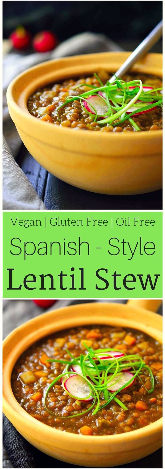 This Spanish-style vegan lentil stew is easy to make with very simple ingredients and perfect for vegans on a serious budget. Hearty and comforting, this oil-free recipe is great as a plant-based main dish for chilly evenings or as a side for a summer barbeque or picnic. It's a freezer-friendly meal that comes in at only $0.50 a serving.