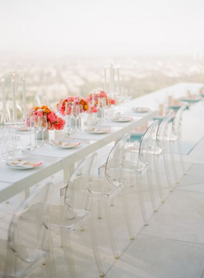 Modern birthday table: http://www.stylemepretty.com/living/2014/07/11/80th-birthday-party/ | Photography: Joel Serrato - http://joelserratofilms.com/