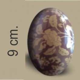 Categoría: Moldes Plasticos - Producto: Molde Huevo Pascua Con Transfer Nº  9 Rosas Oro - Envase: Bolsa - Presentación: X    4 Unid. - Marca: Lodiser