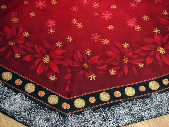 Elegant Octagon Christmas Tree Skirt In Asian By MiladyCreations 7400