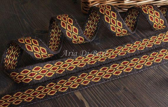 Tablet weaving trim, diamonds pattern, tablet weaving, viking medieval, reenactment, sca, larp