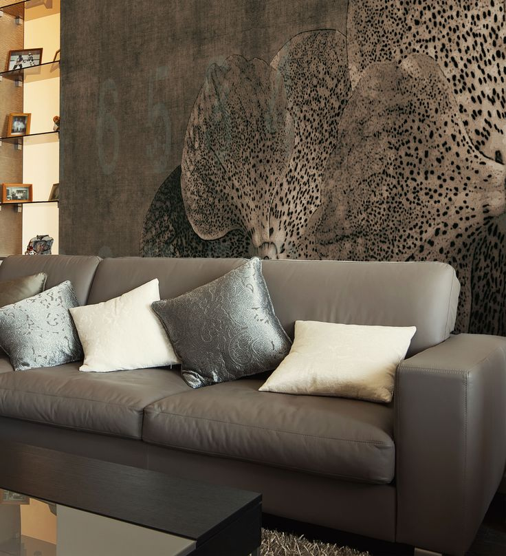 Panoramic wallpaper ORCHID Concrete Collection by N.O.W. Edizioni