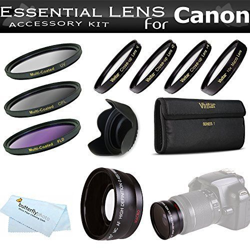 Essential Lens Kit For The Canon SX30IS SX30 IS SX40HS SX40 HS Digital Camera Includes HD 43x Wide Angle Lens  52MM Close Up Lens Kit Includes 1 2 4 10  3pc High Res Filter Kit UVCPLFLD  Lens Hood  MicroFiber Cleaning Cloth ** Details can be found by clicking on the image.