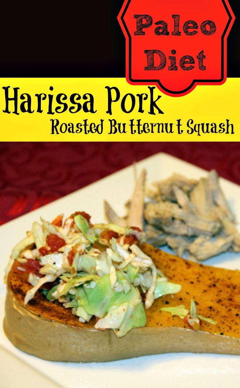 Paleo Diet Harissa Pork and roasted butternut squash