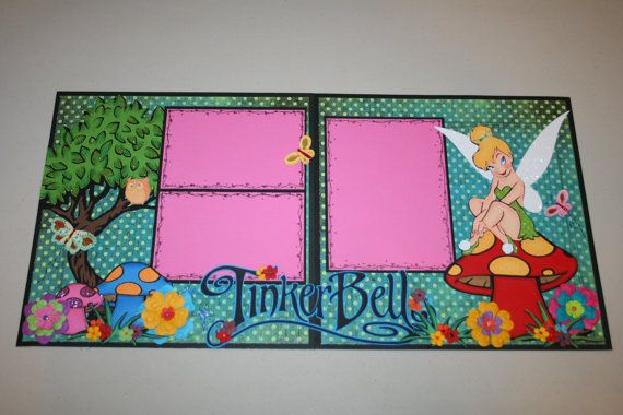 Tinker Bell 12 x 12 Double Page Scrapbook by PaperCraftsByViolet