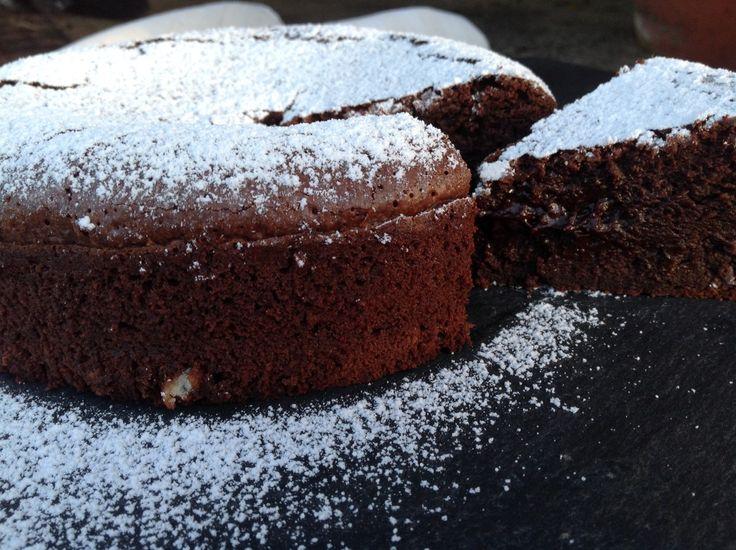Traumhafter Schokoladenkuchen mit flüssigem Kern
