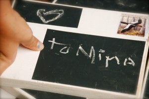 Wooden postcards, re-useable with chalkboard paint.   Perfect for playhouse mail delivery!