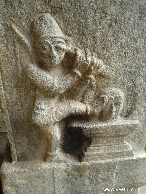 Carving of Bedara Kannappa | Veethi