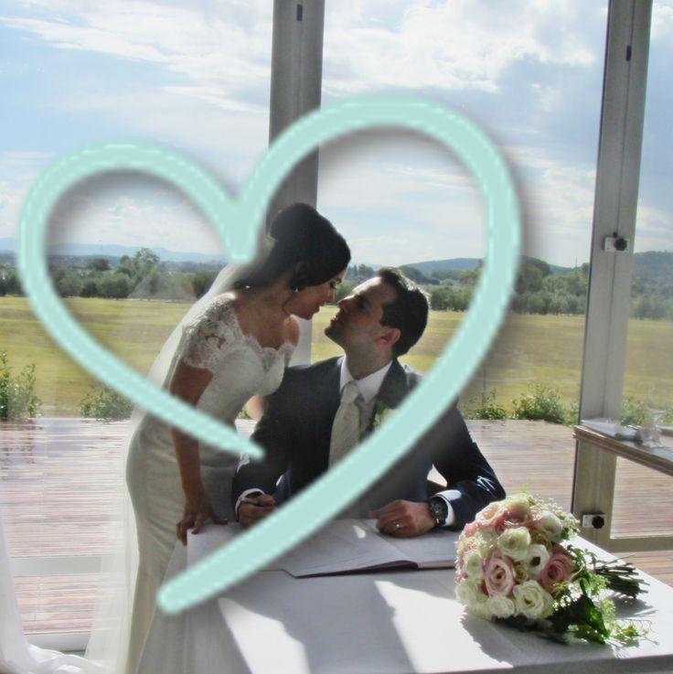 Cathy and Matt married at Pialligo Estate in February