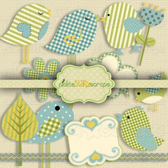 In the Nest Vol1  Clip Art Printable Pack  by PickleStarScraps