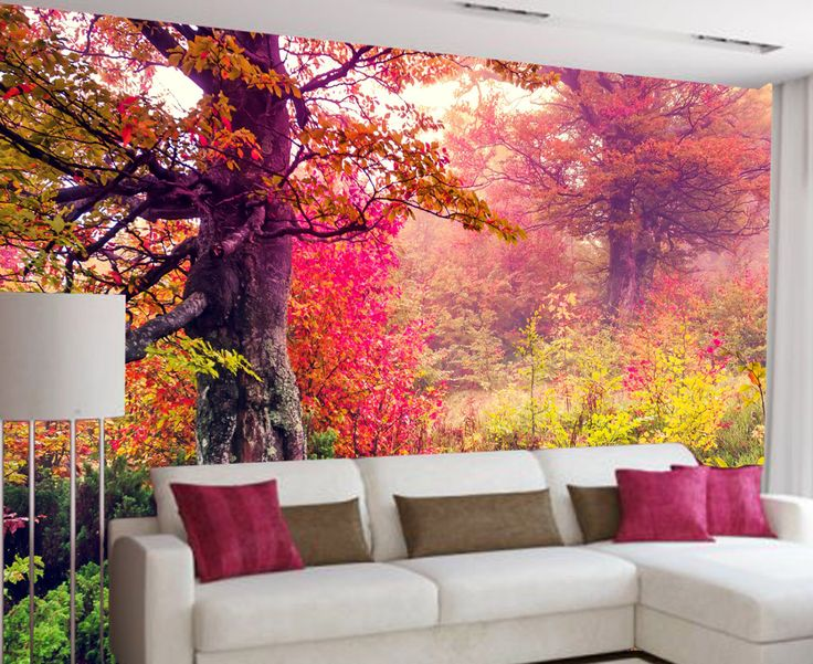 Wall Mural   window mural   self adhesive vinyl  Peel and Stick  nature  wallpaper  3d wallpaper  wall mural forest  For Home Decor  160. 17 Best ideas about 3d Wallpaper For Home on Pinterest   Wallpaper