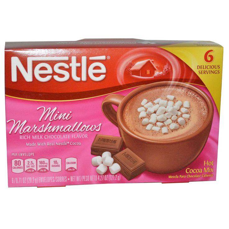 Nestle Hot Cocoa Mix, Mini Marshmallows, Rich Milk Chocolate Flavor, 6 Envelopes, 0.71 oz (20.2 g) Each