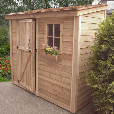 Outdoor Living Today SpaceSaver Wood Lean-To Shed | Wayfair