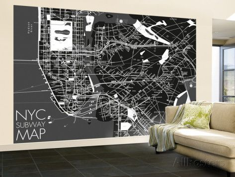 182 best wall treatments images on pinterest animal print nyc subway map wallpaper mural wallpaper mural allposters sciox Images