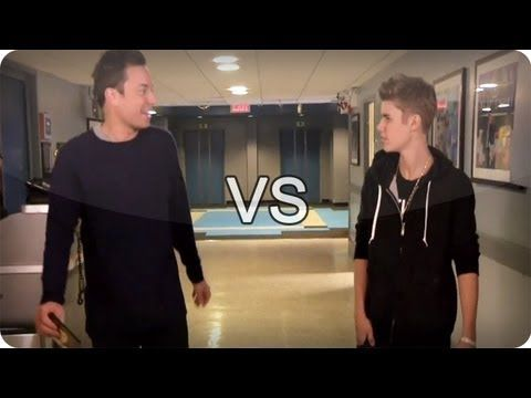 Jimmy Fallon vs Justin Bieber - Late Night With Jimmy Fallon - YouTube - Justin and Jimmy are so funny together...this video is one of many of them two, it is hysterical!