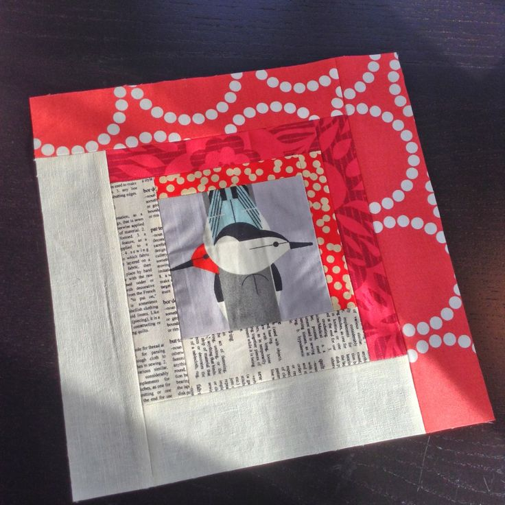 House of A La Mode Charley Harper!!!!  Heather Bostic is amazing ~  Love her use of Lizzie House's pearl bracelets on outside border with newspaper print fabric, too!