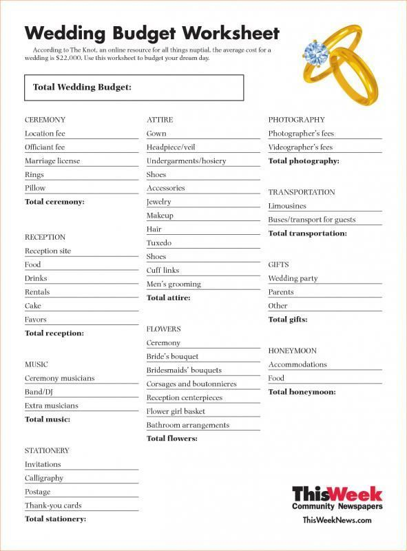 Wedding Budget Spreadsheet The Knot Check more at   lovevoting