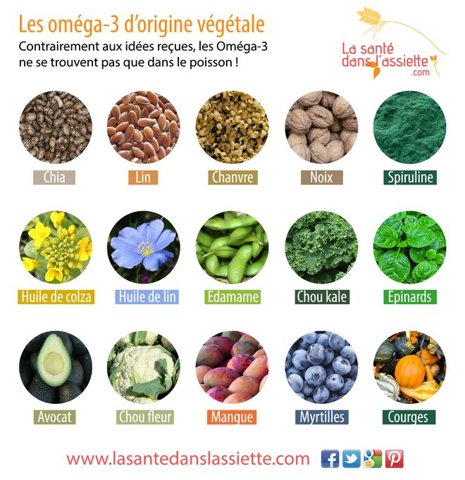 Les Oméga-3 d'origine végétale                              …