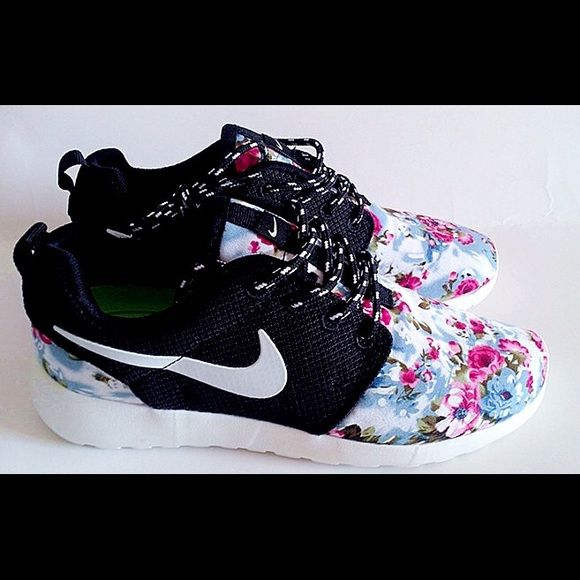 Roshe run NIKE Womens size custom Floral women's size never worn, still in  box Nike Shoes Athletic Shoes