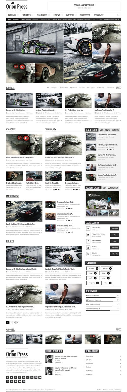 Orion Press – Retina and Responsive Magazine Theme