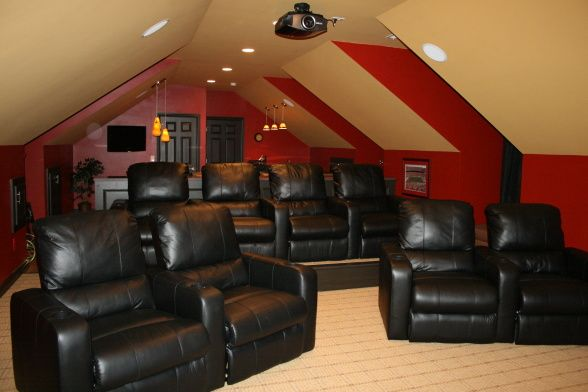 room above garage turned theater room 8 bonus room ideas