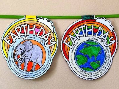 Earth Day pennant. I focused on fun facts about Earth with this Earth Day pennant. I wanted to combine science and math with this one, so each pennant has a word problem (solvable with + - x or /) related to its picture. Includes an optional student answer sheet and key.