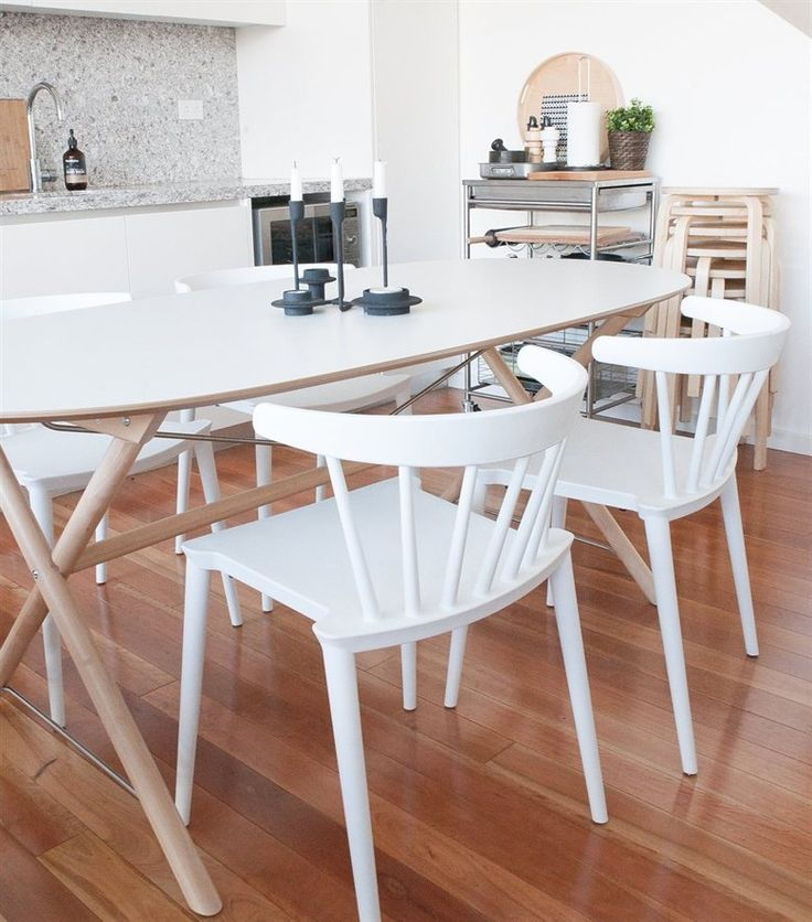 White and birch dining area   Get the Nordic look in your home – find more inspiration from Matt's home in Sydney in LIVE from IKEA FAMILY