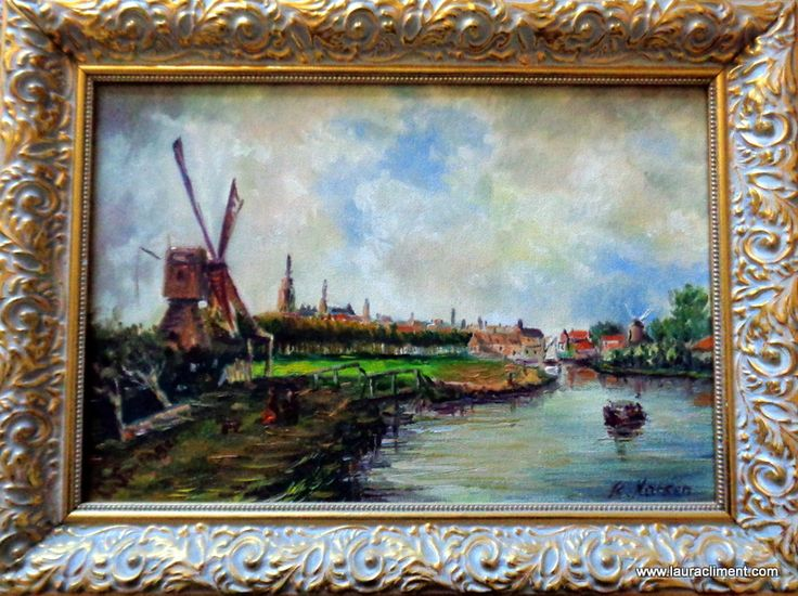 "Copy of Springer & Karsen ""The Hague view"" Oil  on canvas 25 x 35 cm."