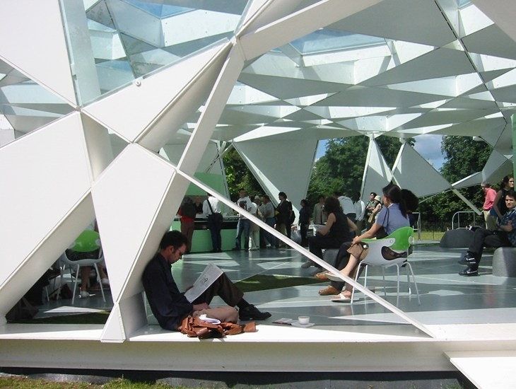 Courtesy Toyo Ito & Associates Architects | 2002 Serpentine Gallery Pavilion, London.