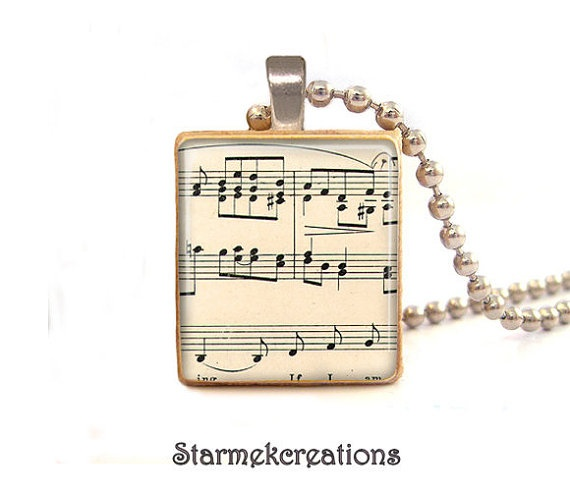 80 best scrabble tiles images on pinterest scrabble tiles vintage music notes scrabble tile pendant scrabble tile jewelry pendant scrabble pendant aloadofball Image collections