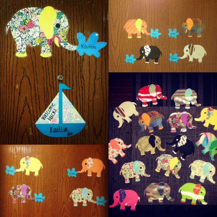 Elephant Door Decs! Love how they turned out! & 254 best RA Door Decs images on Pinterest | Ra college Ra door ... Pezcame.Com