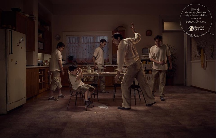 .: Children Turn, Circles, Save, Child Abuse, Advertising, Abusive Adults, Ads
