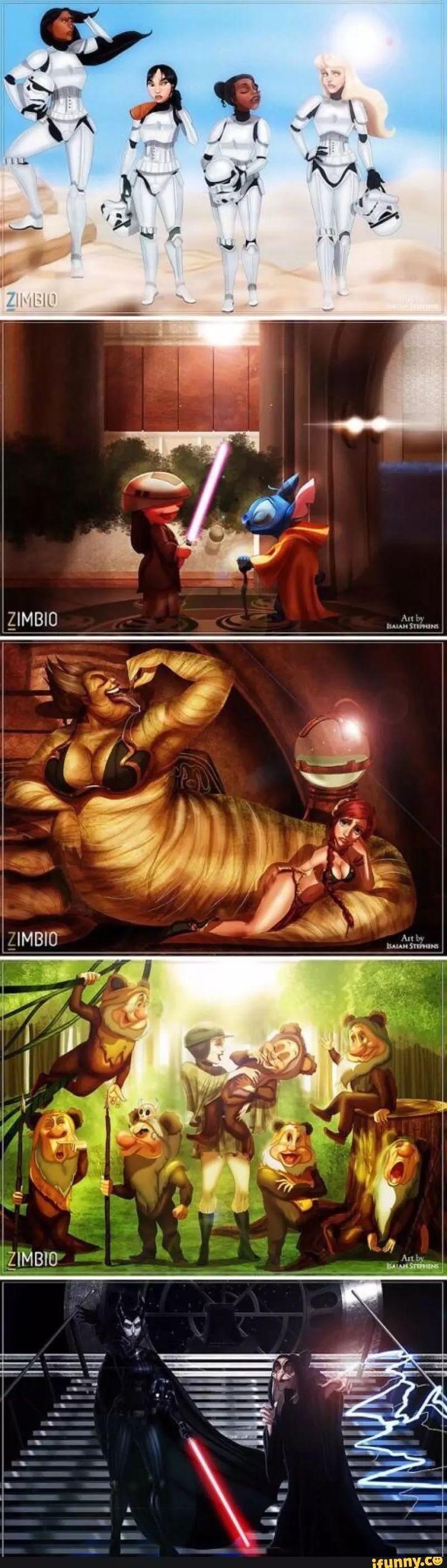 Disney Animation and Star Wars mash-up