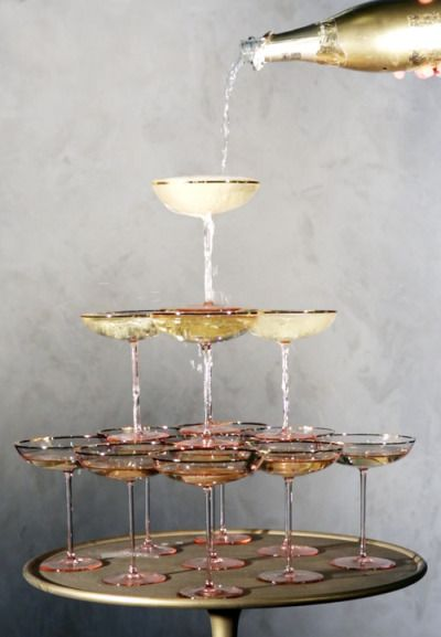 champagne tower for NYE