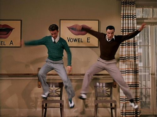 """Gene Kelly and Donald O'Connor in """"Singing in the Rain.""""  Donald O'Connor was so underrated."""