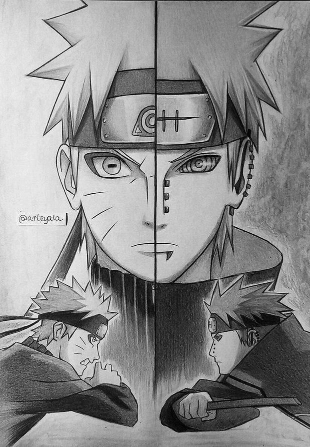 Ihbinb In 2020 Naruto Sketch Anime Character Drawing Anime Sketch