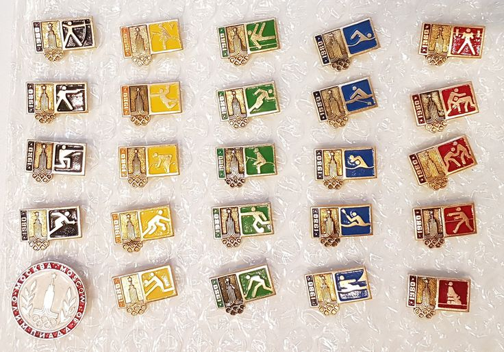 Olympic Games 80 Moscow Pin Badge Set 25pcs USSR 1980 by Olympiad80 on Etsy