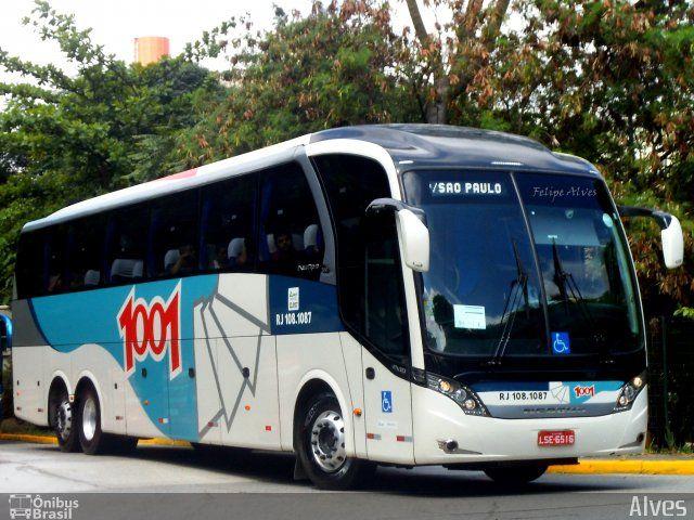 Ônibus da empresa Auto Viação 1001, carro RJ 108.1087, carroceria Neobus New Road 380 N10, chassi Scania K360IB 6x2. Foto na cidade de São Paulo-SP por Alves, publicada em 11/02/2017 01:12:04.