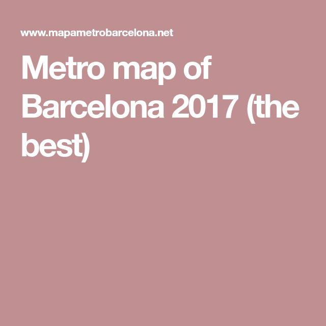 Metro map of Barcelona 2017 (the best)