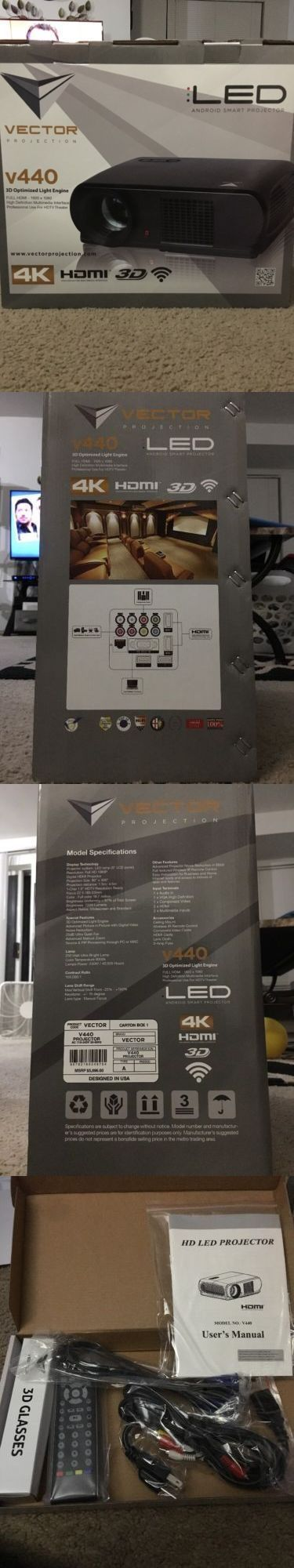Projector Mounts and Stands: Vector Projection V440 Home Theater Set. Includes Projector Screen. All Sealed -> BUY IT NOW ONLY: $650 on eBay! #hometheaterprojectormount #hometheaterprojectorscreen #projectorscreen