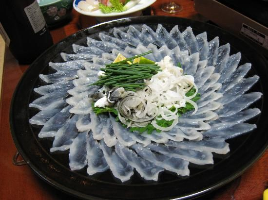 Fugu sashimi!